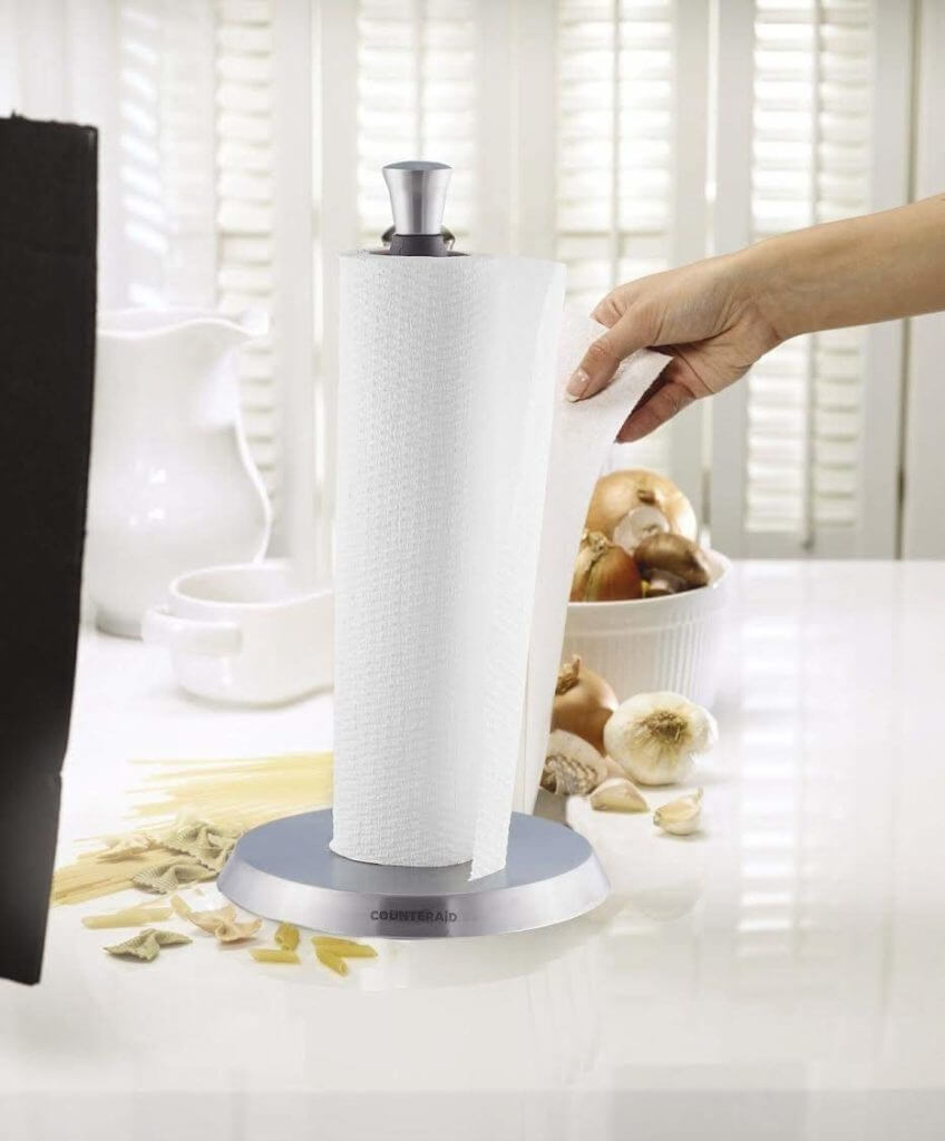 Counter Aid Paper Towel Holder, Vertical Stand-Up Counter-Top Dispenser