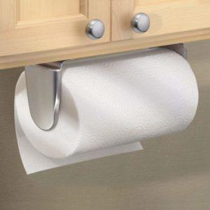 mDesign Metal Wall Mount Paper Towel Holder & Dispenser