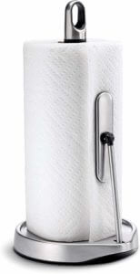 Simplehuman Tension Arm Paper Towel Holder, Brushed Stainless Steel.
