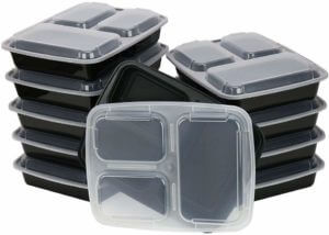 ChefLand 3-Compartment Lunch Meal prep box (10 pack)