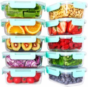 meal prep containers glass 2020