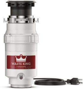 Waste King L-1001 Garbage Disposal with Power Cord, 1/2 HP by Waste King
